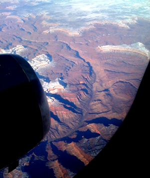 First time I recall flying over the Grand Canyon. Lovely. I'd love to boat down it someday.